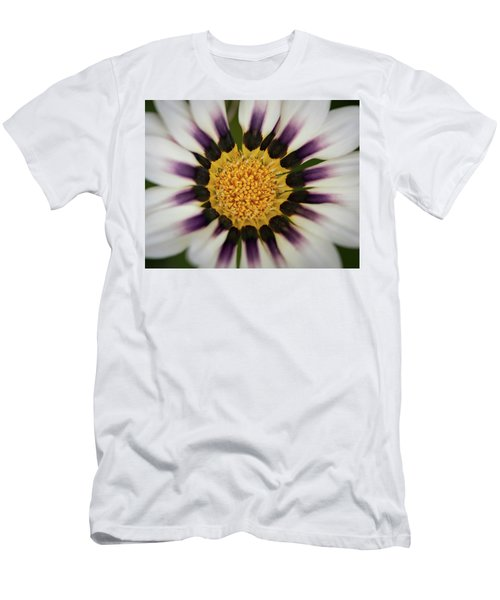 White And Purple Zinnia With Yellow Men's T-Shirt (Athletic Fit)
