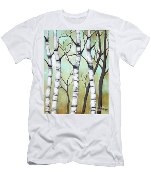 White Birch Men's T-Shirt (Athletic Fit)