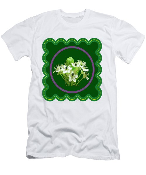 White Bunch Bud Flower Floral Posters Photography And Graphic Fusion Art Navinjoshi Fineartamerica P Men's T-Shirt (Athletic Fit)