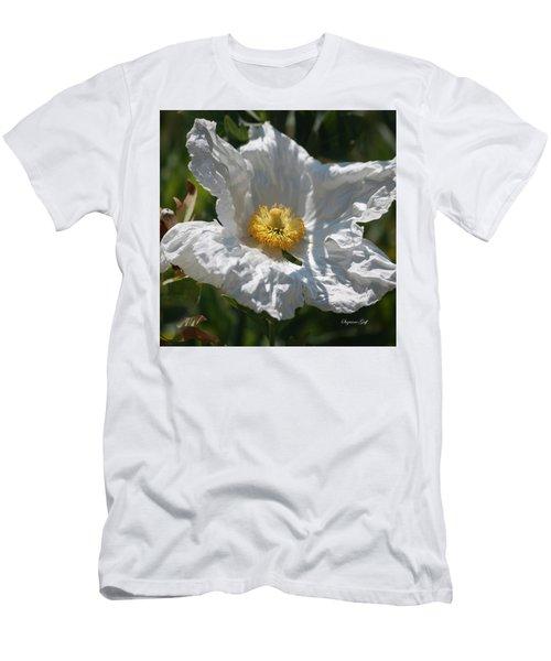 White Cactus Flower Men's T-Shirt (Athletic Fit)