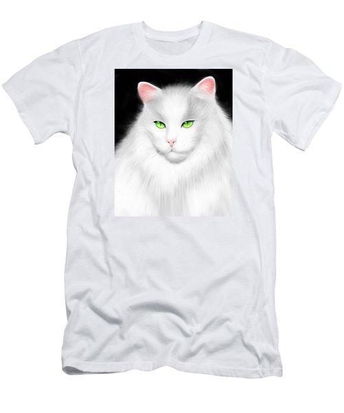 White Cat Men's T-Shirt (Slim Fit) by Salman Ravish