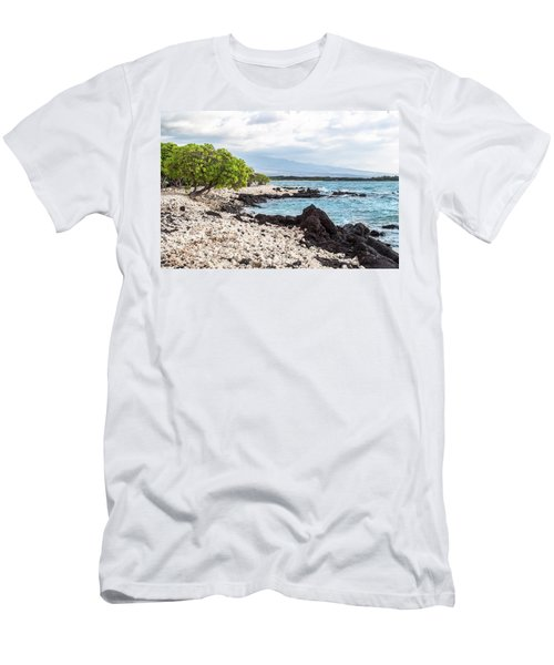 White Coral Coast Men's T-Shirt (Athletic Fit)