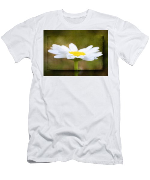 Men's T-Shirt (Slim Fit) featuring the photograph White Daisy by Eduard Moldoveanu