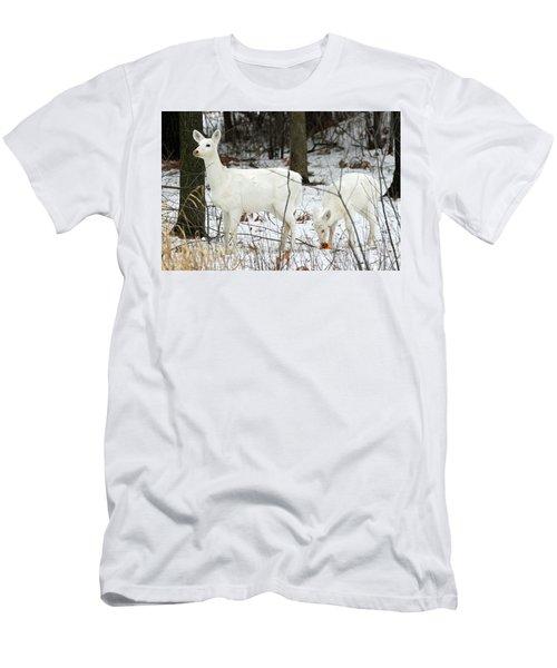 White Deer With Squash 4 Men's T-Shirt (Slim Fit) by Brook Burling