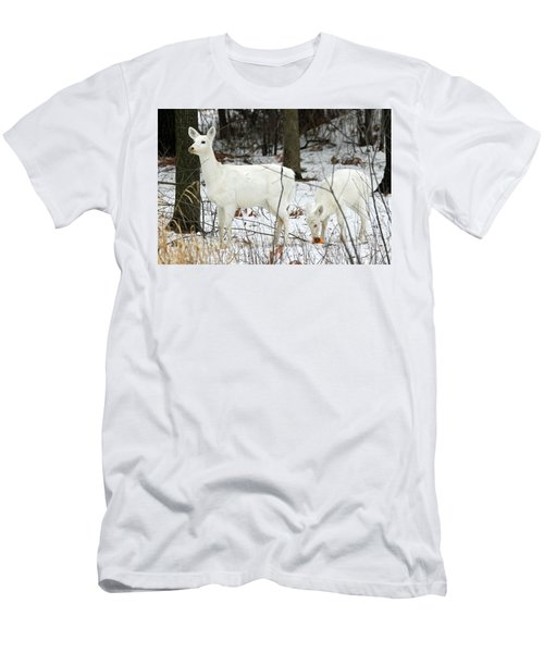 White Deer With Squash 4 Men's T-Shirt (Athletic Fit)