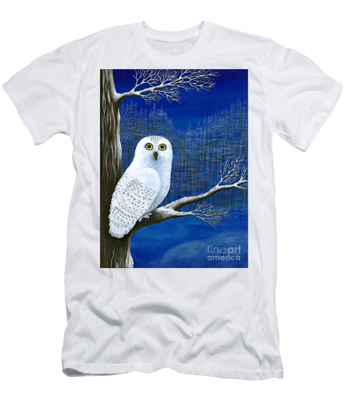 Men's T-Shirt (Slim Fit) featuring the painting White Delivery by Rebecca Parker