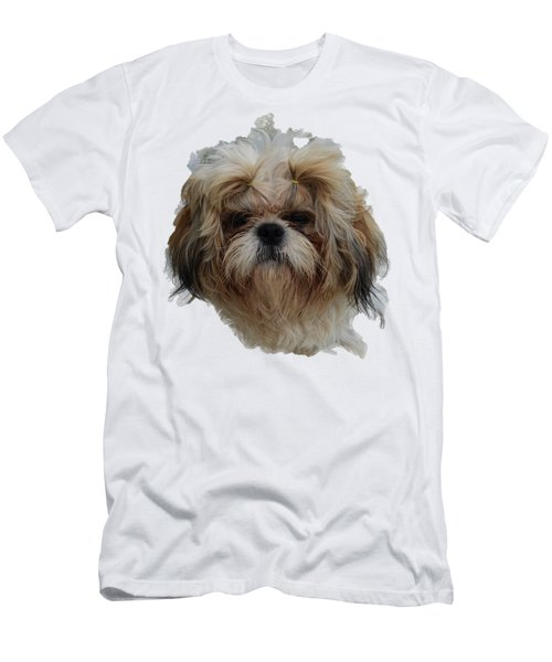 White Dog Head Men's T-Shirt (Athletic Fit)