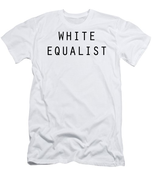 White Equalist Men's T-Shirt (Athletic Fit)