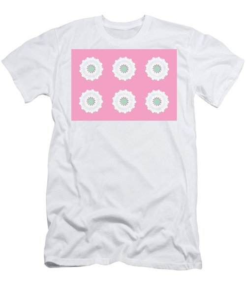 Men's T-Shirt (Athletic Fit) featuring the digital art White Flowers by Elizabeth Lock