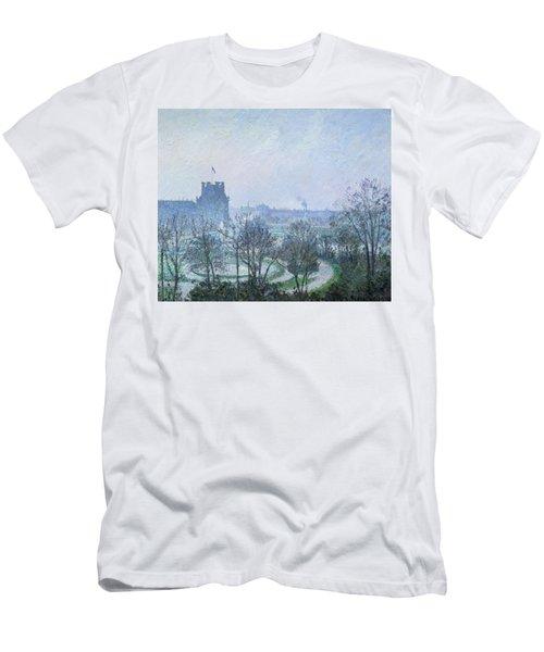 White Frost Jardin Des Tuileries Men's T-Shirt (Athletic Fit)