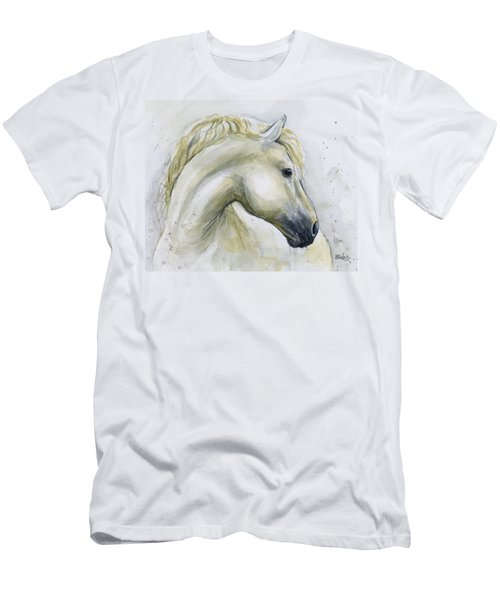 White Horse Watercolor Men's T-Shirt (Athletic Fit)