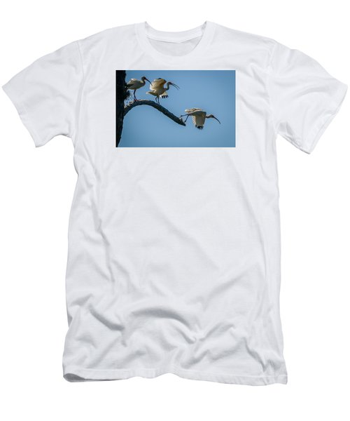 White Ibis Takeoff Men's T-Shirt (Athletic Fit)