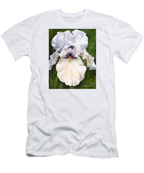 White Iris Men's T-Shirt (Athletic Fit)