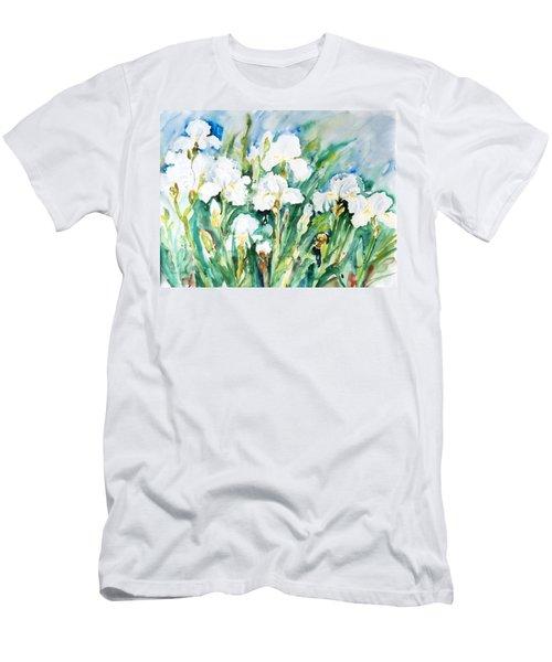 White Irises Men's T-Shirt (Athletic Fit)