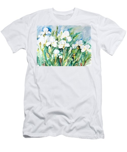 White Irises Men's T-Shirt (Athletic Fit)