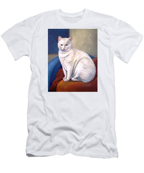 White Kitty Men's T-Shirt (Slim Fit) by Laura Aceto