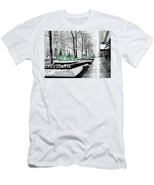 White Mag Mile Christmas Men's T-Shirt (Athletic Fit)
