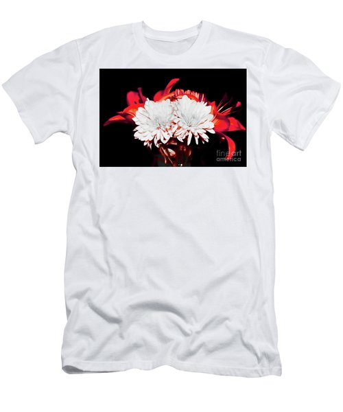 White Mums And Red Lilies Men's T-Shirt (Athletic Fit)