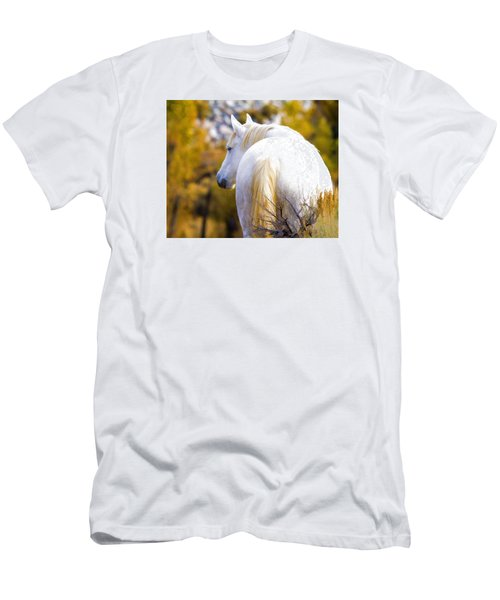 White Mustang Mare Men's T-Shirt (Athletic Fit)
