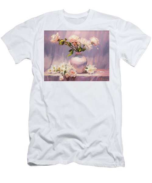 Men's T-Shirt (Athletic Fit) featuring the painting White On White by Steve Henderson