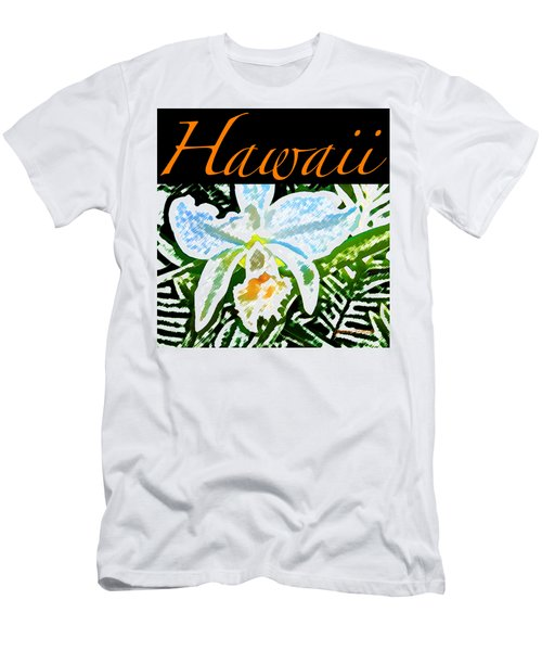 White Orchid T-shirt Men's T-Shirt (Slim Fit) by James Temple