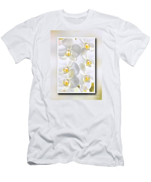 White Orchids Framed Men's T-Shirt (Athletic Fit)