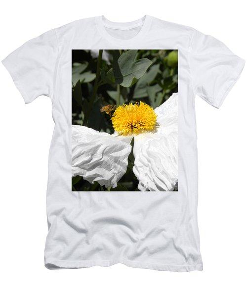 White Poppy Men's T-Shirt (Athletic Fit)