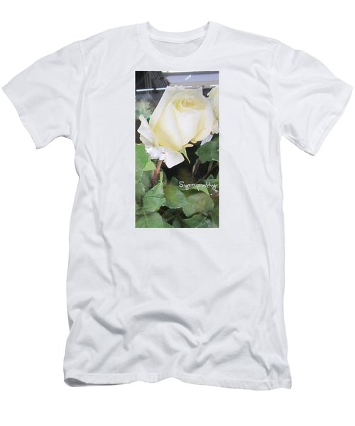 White Rose - Sympathy Card Men's T-Shirt (Athletic Fit)