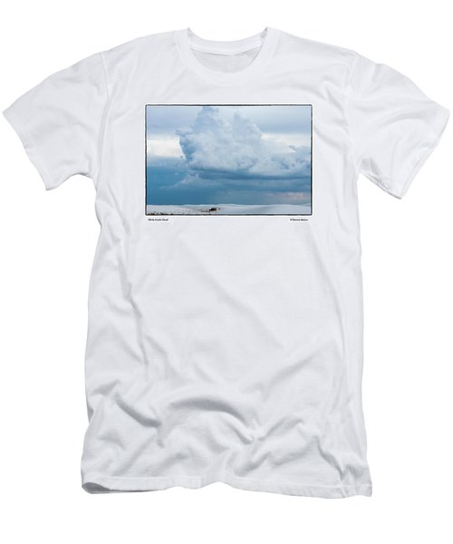White Sands Cloud Men's T-Shirt (Slim Fit) by R Thomas Berner