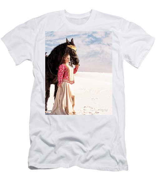 White Sands Horse And Rider #2a Men's T-Shirt (Athletic Fit)