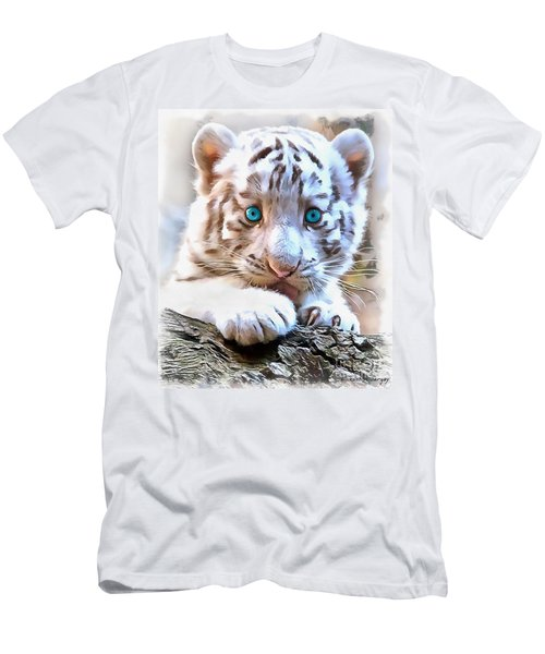White Tiger Cub Men's T-Shirt (Athletic Fit)