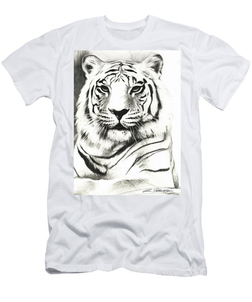 White Tiger Portrait Men's T-Shirt (Athletic Fit)