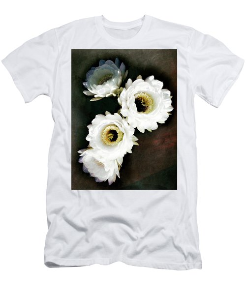 White Torch Blooms Men's T-Shirt (Athletic Fit)
