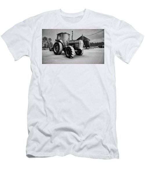 White Tractor Men's T-Shirt (Athletic Fit)