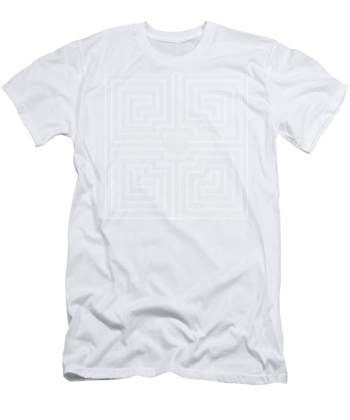 White Transparent Design Men's T-Shirt (Athletic Fit)
