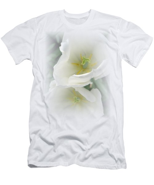 White Tulip Fantasy Men's T-Shirt (Athletic Fit)