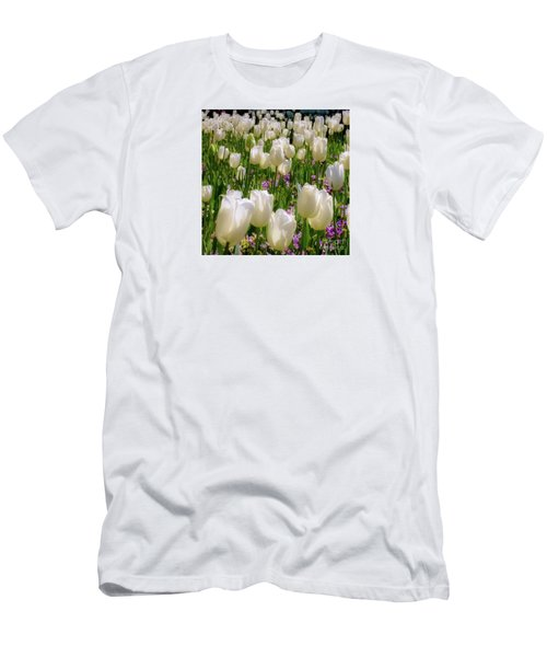 White Tulips In Bloom Men's T-Shirt (Athletic Fit)