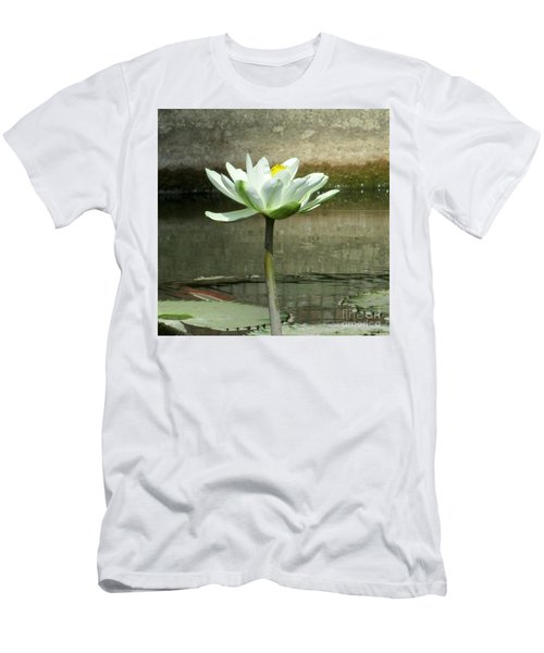 Men's T-Shirt (Slim Fit) featuring the photograph White Water Lily 2 by Randall Weidner