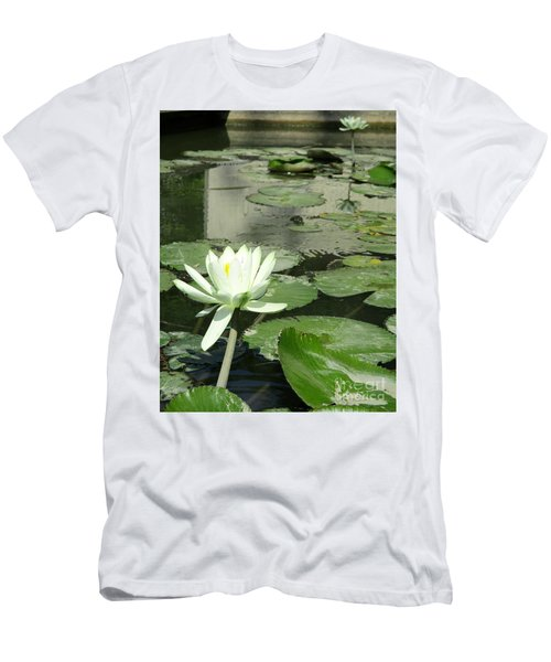 Men's T-Shirt (Slim Fit) featuring the photograph White Water Lily 3 by Randall Weidner