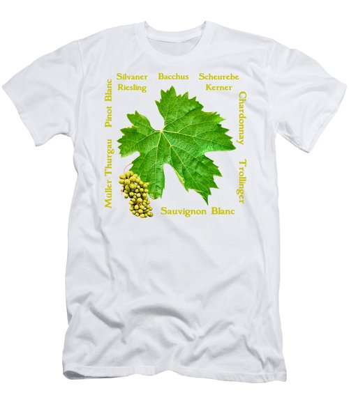 White Wine Lettering Men's T-Shirt (Athletic Fit)