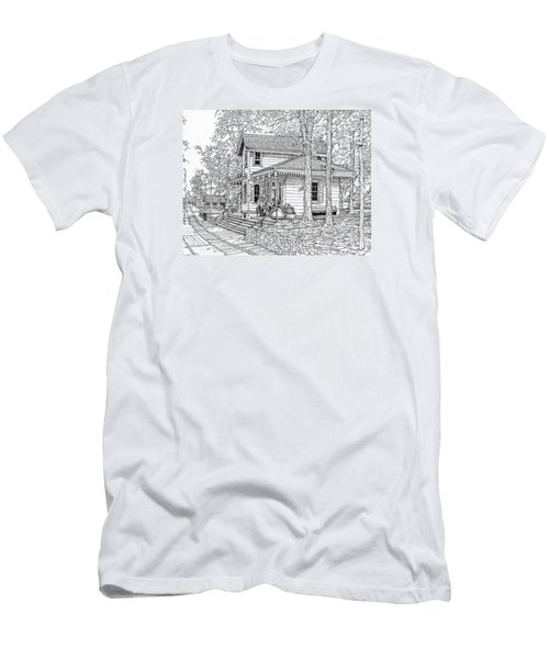 Whitehall Station Bryn Mawr Pennsylvania Men's T-Shirt (Slim Fit) by Ira Shander