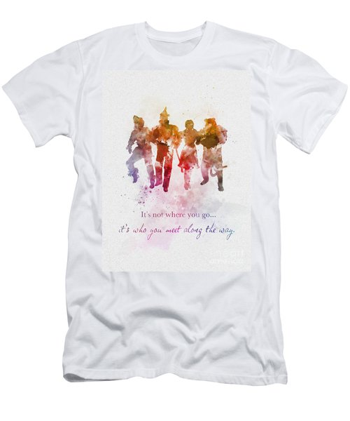 Who You Meet Along The Way Men's T-Shirt (Athletic Fit)
