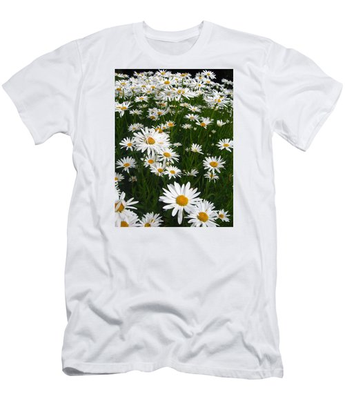 Wild Daisies Men's T-Shirt (Slim Fit) by Dorothy Cunningham