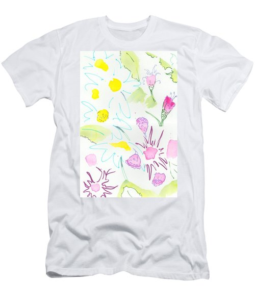 Wild Daisies Pattern Men's T-Shirt (Athletic Fit)