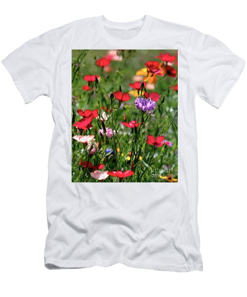 Wild Flower Meadow  Men's T-Shirt (Athletic Fit)