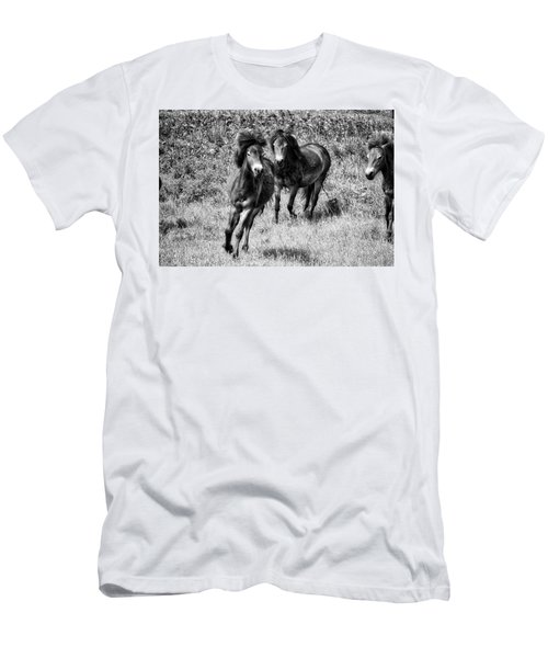 Wild Horses Bw4 Men's T-Shirt (Athletic Fit)