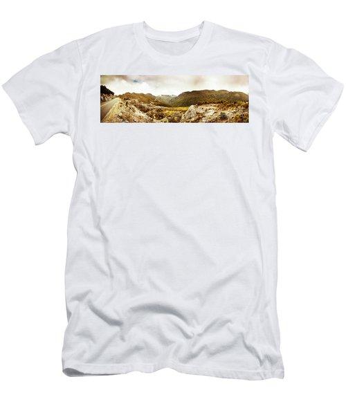 Wild Mountain Terrain Men's T-Shirt (Athletic Fit)