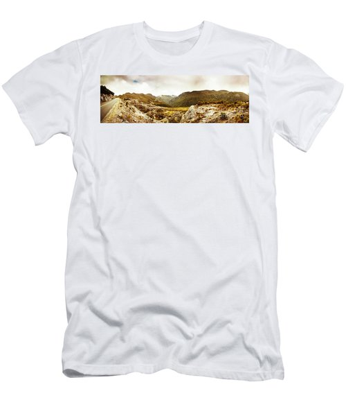 Wild Mountain Terrain Men's T-Shirt (Athletic Fit)