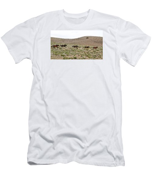 Wild Mustang Herd Running Men's T-Shirt (Athletic Fit)