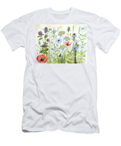 Wildflower And Bees Men's T-Shirt (Athletic Fit)